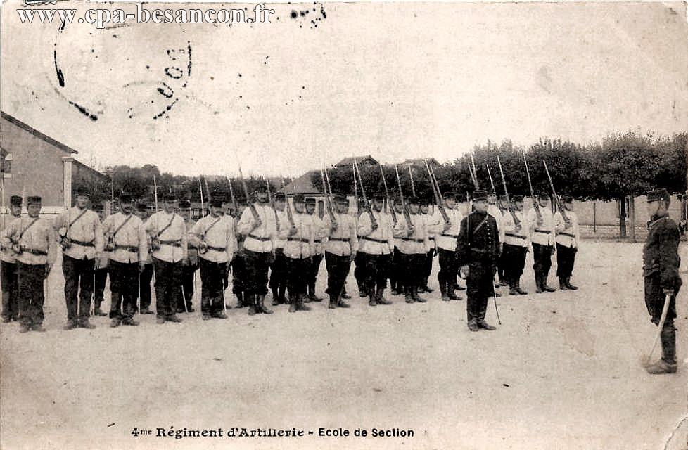 4me Régiment d'Artillerie - Ecole de Section